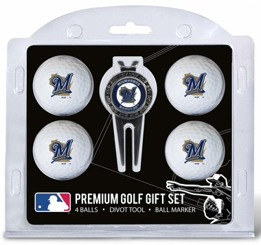 Milwaukee Brewers 4 Ball and Divot Tool Set