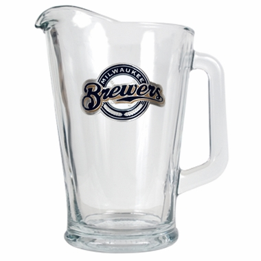 Milwaukee Brewers 60 oz Glass Pitcher