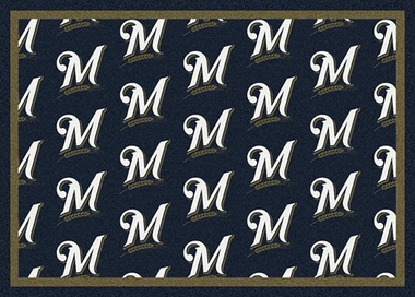 "Milwaukee Brewers 7'8 x 10'9"" Premium Pattern Rug"