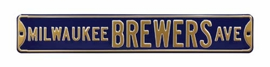 Milwaukee Brewers Ave Street Sign