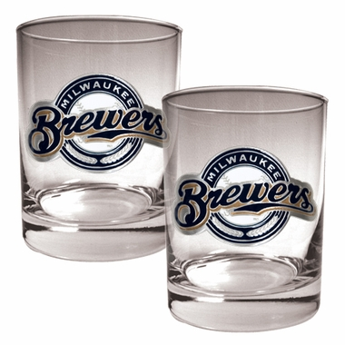 Milwaukee Brewers Double Rocks Set