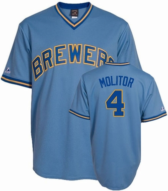 Milwaukee Brewers Paul Molitor Replica Throwback Jersey