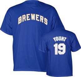 Milwaukee Brewers Robin Yount Name and Number T-Shirt - Medium