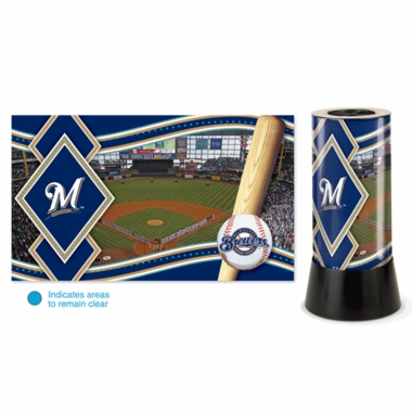 Milwaukee Brewers Rotating Lamp