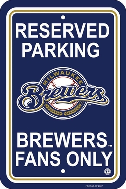 Milwaukee Brewers Plastic Parking Sign (P)