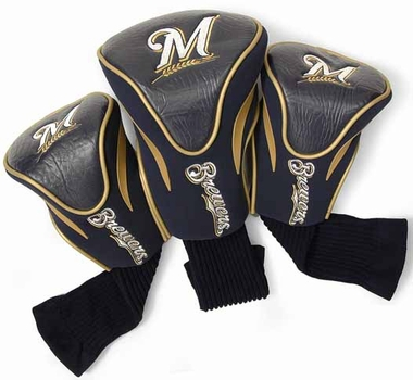 Milwaukee Brewers Set of Three Contour Headcovers