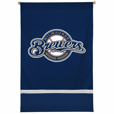 Milwaukee Brewers SIDELINES Jersey Material Wallhanging