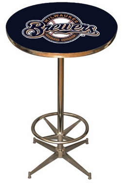 Milwaukee Brewers Team Pub Table