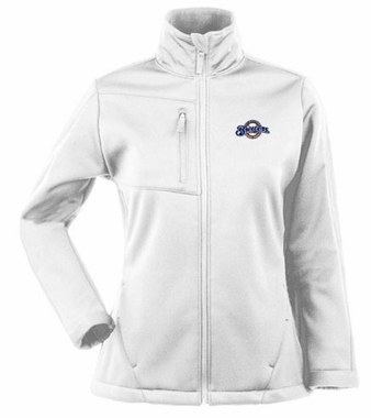 Milwaukee Brewers Womens Traverse Jacket (Color: White)