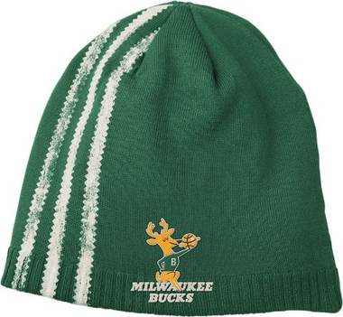 Milwaukee Bucks Retro Cuffless Distressed Striped Knit Hat
