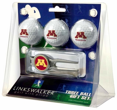 Minnesota 3 Ball Gift Pack With Kool Tool