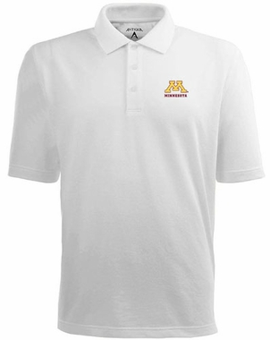 Minnesota Mens Pique Xtra Lite Polo Shirt (Color: White)