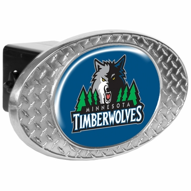 Minnesota Timberwolves Metal Diamond Plate Trailer Hitch Cover