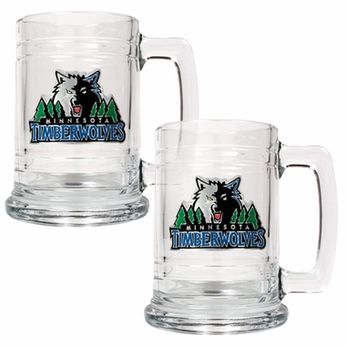 Minnesota Timberwolves Set of 2 15 oz. Tankards