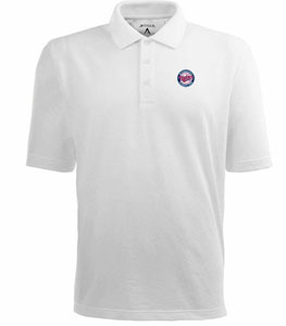 Minnesota Twins Mens Pique Xtra Lite Polo Shirt (Color: White) - Medium