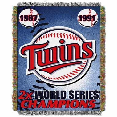 Minnesota Twins Commerative Jacquard Woven Blanket