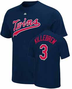 Minnesota Twins Harmon Killebrew Name and Number T-Shirt - Large