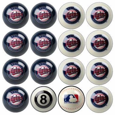 Minnesota Twins Home and Away Complete Billiard Ball Set