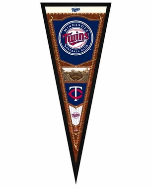 "Minnesota Twins Pennant Frame - 13""x33"" (No Glass)"