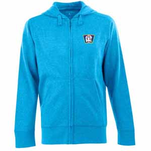 Minnesota Twins Mens Signature Full Zip Hooded Sweatshirt (Cooperstown) (Color: Aqua) - Medium