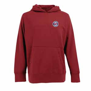 Minnesota Twins Mens Signature Hooded Sweatshirt (TeamColor: Red) - Large