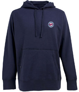 Minnesota Twins Mens Signature Hooded Sweatshirt (Color: Navy) - Small