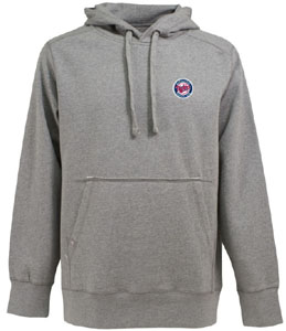 Minnesota Twins Mens Signature Hooded Sweatshirt (Color: Silver) - XXX-Large
