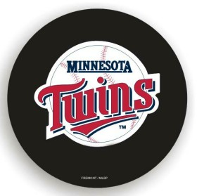 Minnesota Twins Black Tire Cover - Standard Size