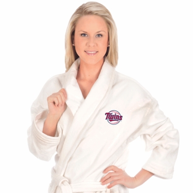 Minnesota Twins UNISEX Bath Robe (White)