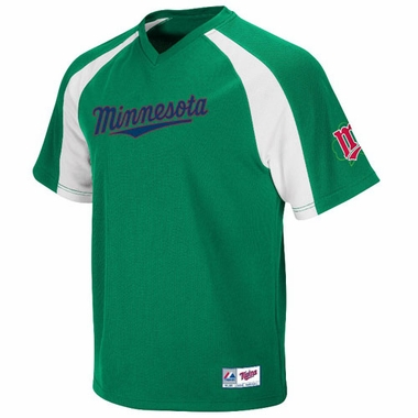 Minnesota Twins V-Neck Crusader Jersey (Green)