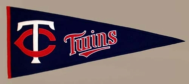 Minnesota Twins Wool Pennant