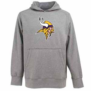 Minnesota Vikings Big Logo Mens Signature Hooded Sweatshirt (Color: Gray) - X-Large