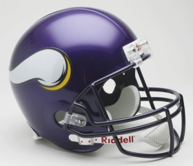 Minnesota Vikings 2006-12 Throwback Riddell Deluxe Replica Helmet