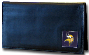 Minnesota Vikings Leather Checkbook Cover (F)