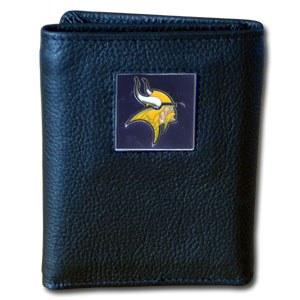 Minnesota Vikings Leather Trifold Wallet (F)
