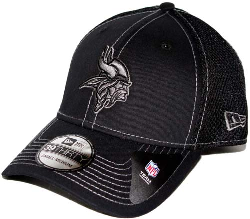 95ac36e84 ... australia minnesota vikings new era 39thirty blitz neo fitted hat black  392dc 9f921
