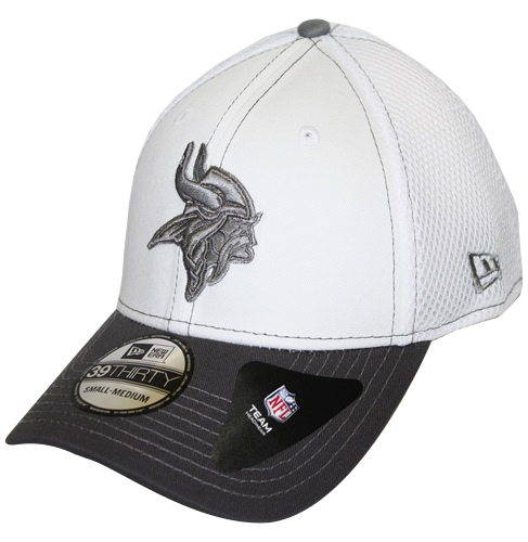 Minnesota Vikings New Era 39THIRTY Blitz Neo Fitted Hat - Gray 7de6d6096e7