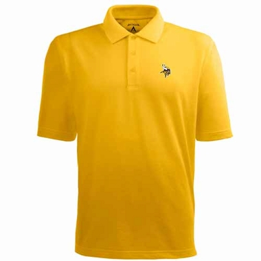Minnesota Vikings Mens Pique Xtra Lite Polo Shirt (Color: Gold)