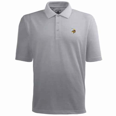 Minnesota Vikings Mens Pique Xtra Lite Polo Shirt (Color: Gray)