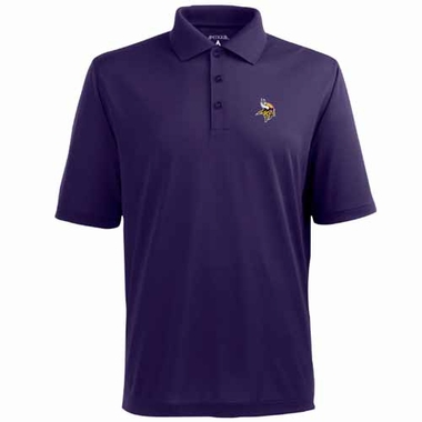 Minnesota Vikings Mens Pique Xtra Lite Polo Shirt (Color: Purple)