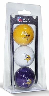 Minnesota Vikings Set of 3 Multicolor Golf Balls