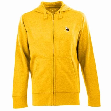 Minnesota Vikings Mens Signature Full Zip Hooded Sweatshirt (Color: Gold)