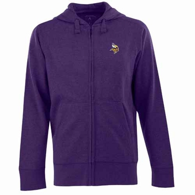 Minnesota Vikings Mens Signature Full Zip Hooded Sweatshirt (Color: Purple)
