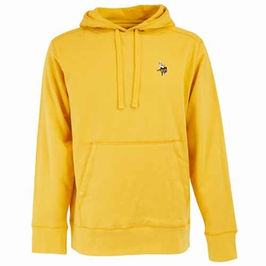 Minnesota Vikings Mens Signature Hooded Sweatshirt (Color: Gold)