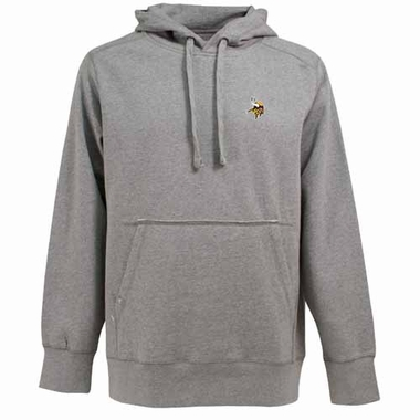 Minnesota Vikings Mens Signature Hooded Sweatshirt (Color: Silver)