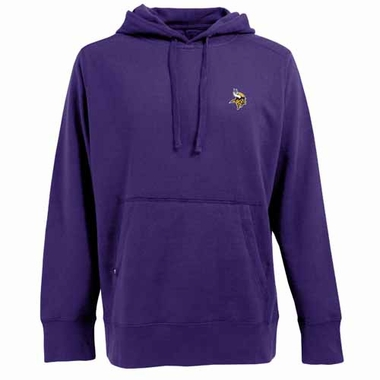 Minnesota Vikings Mens Signature Hooded Sweatshirt (Color: Purple)