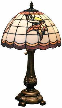 Minnesota Vikings Stained Glass Table Lamp