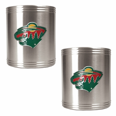 Minnesota Wild 2 Can Holder Set