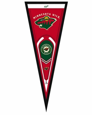 "Minnesota Wild Pennant Frame - 13"" x 33"" (No Glass)"