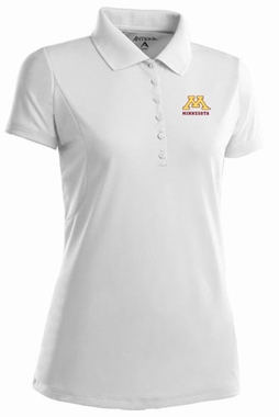 Minnesota Womens Pique Xtra Lite Polo Shirt (Color: White)
